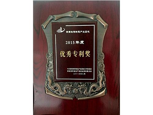 2015年度浏阳制造产业基地优秀专利奖